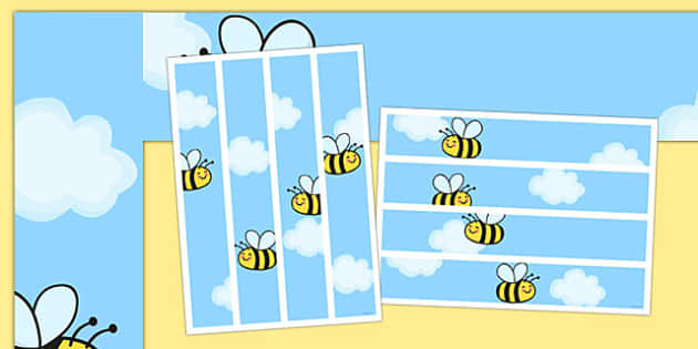 Bee Themed Display Borders - bee, display borders, display, borders