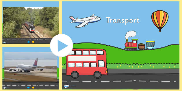 Transport Video PowerPoint - transport, transport powerpoint, transport videos, bus video, train video, aeroplane video, hot air balloon video, videos