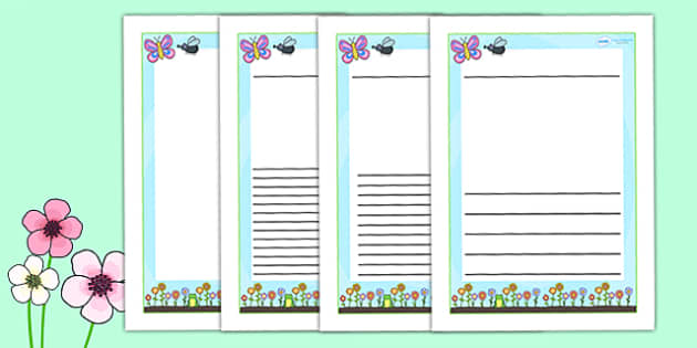 Spring Themed Writing Frames - spring, seasons, weather, write