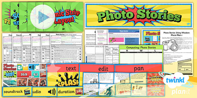 PlanIt - Computing Year 4 - Photo Stories Unit Pack - planit, computing, year 4, unit, pack