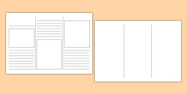 Leaflet Template - writing template, writing aid, leaflets