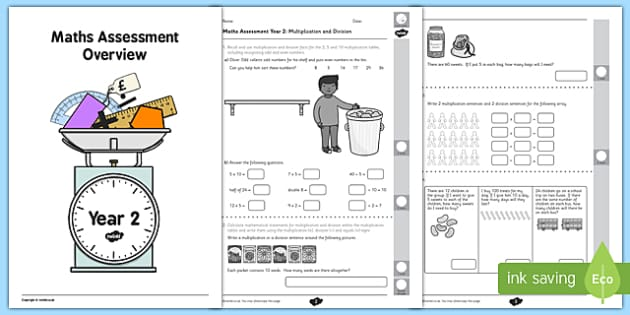Year 2 Maths Assessment Multiplication and Division Term 1 – Multiplication Assessment Worksheet