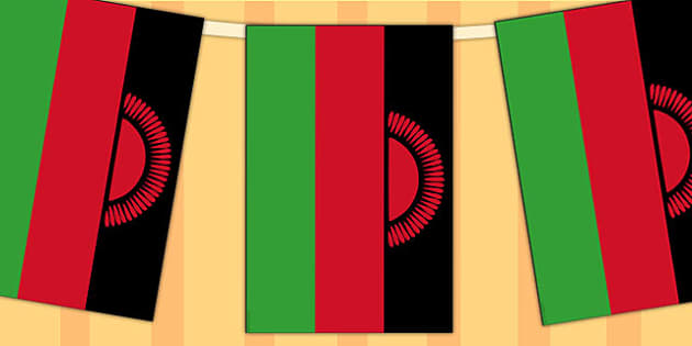 Malawi Flag Display Bunting - countries, geography, display, flag
