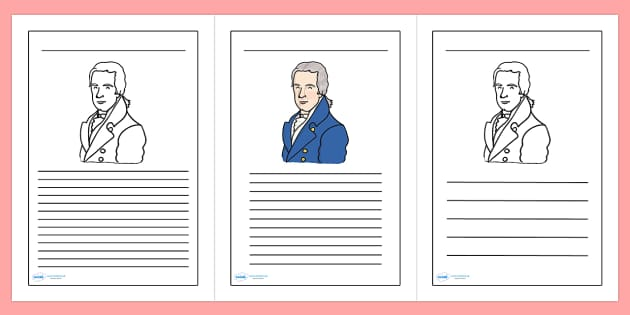 William Wilberforce Themed Writing Frame - william wilberforce, writing frame, writing template, writing guide, writing aid, line guide, themed writing