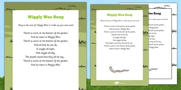 Wiggly Woo Song - worms, soil, garden, bugs, minibeast
