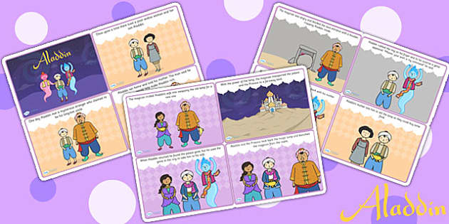 Aladdin Story Sequencing Cards - aladdin, stories, sequencing