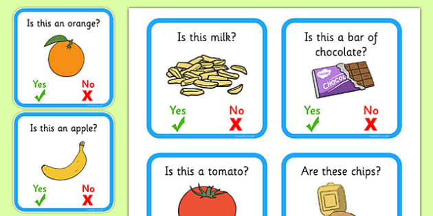 50 Yes or No Question Labels - question words, yes/no response, life skills, autism, quick listening games, starter games