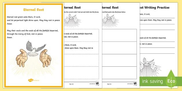 Eternal Rest Prayer Resource Pack-Australia - CfE Catholic Christianity, prayers, mass responses, Eternal Rest,Australia