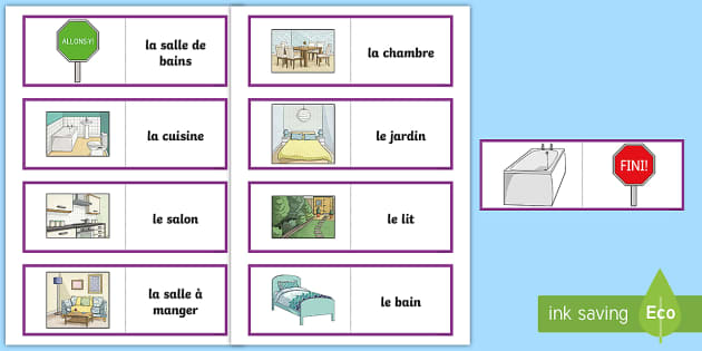Parts of a House Card Game French - French Games, french parts of a house, french homes, french rooms, french house vocabulary, french c