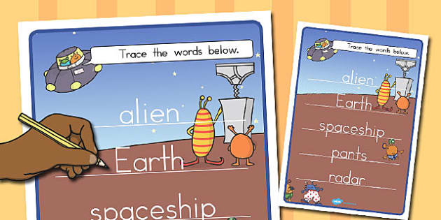 Topic Word Tracing Works to Support Teaching on Aliens Love Underpants - australia