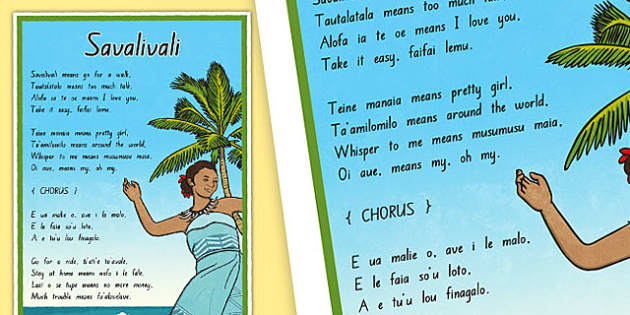 Samoan Language Song Display Posters - nz, new zealand, samoa, Samoan language week, celebration, display, song, savalivali