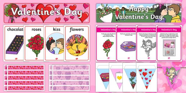 Valentine's Day Display Pack - Valentine's Day,  Feb 14th, love, cupid, hearts, valentine,Australia