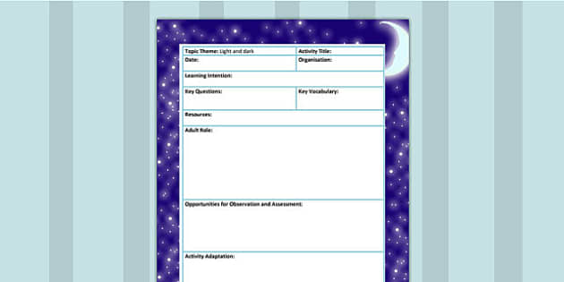 Light and Dark Themed Adult Focus Planning Template - science