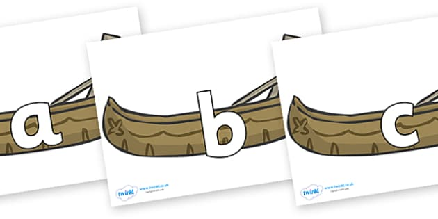 Phoneme Set on Canoes - Phoneme set, phonemes, phoneme, Letters and Sounds, DfES, display, Phase 1, Phase 2, Phase 3, Phase 5, Foundation, Literacy