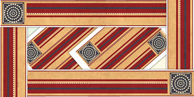 The Indus Valley Themed Border Pieces - history, borders, display