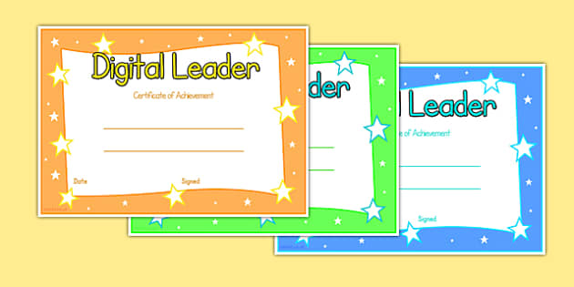 Digital Leaders Certificate - digital leaders, certificate, digital, leaders