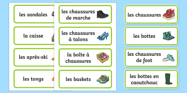 Le magasin de chaussures Shoe Shop Role Play Word Cards French - french, Shoe shop, shoes, role play, shop, trainers, display, poster, shoe box, labels, measuring chart, word cards