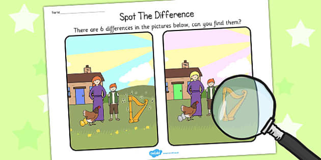 Jack and the Beanstalk Spot the Difference Activity - difference