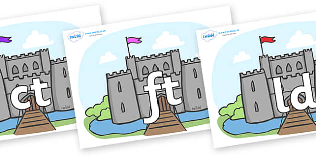 Final Letter Blends on Castles - Final Letters, final letter, letter blend, letter blends, consonant, consonants, digraph, trigraph, literacy, alphabet, letters, foundation stage literacy