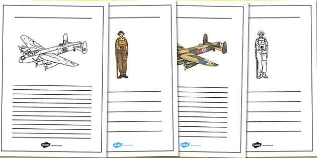 VE Day Writing Frames - ve day, writing, frames, victory, europe
