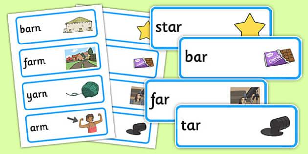 Ar Sound Word Cards - ar sound, word cards, word, cards, ar, sound
