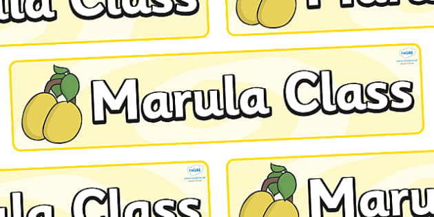 Marula Themed Classroom Display Banner - Themed banner, banner, display banner, Classroom labels, Area labels, Poster, Display, Areas