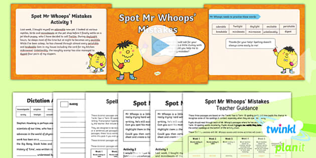 PlanIt Y6 Term 1B Assess and Review Spelling Pack