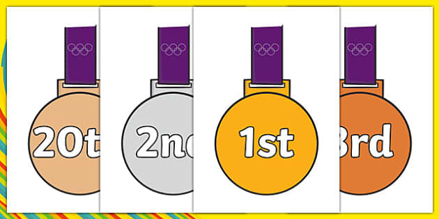 The Olympics Ordinal Numbers on Medals - Olympics, Olympic Games, sports, Olympic, London, 2012, Olympic torch, flag, countries, medal, Olympic Rings, mascots, flame, compete, tennis, athlete, swimming, race,