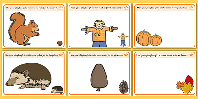 Autumn Playdough Mats - Autumn, playdough, mat, Harvest, Autumn, seasons, harvest festival, fruit, apple, pear, orange, wheat, bread, grain, leaves, conker