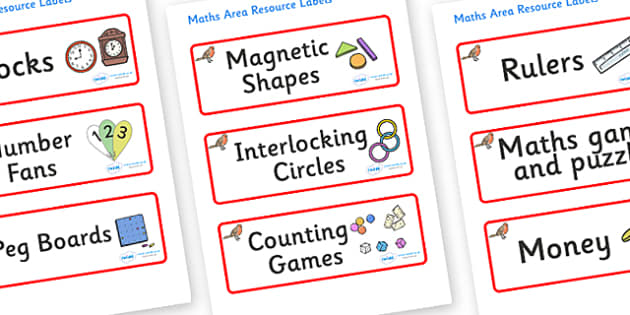 Robin Themed Editable Maths Area Resource Labels - Themed maths resource labels, maths area resources, Label template, Resource Label, Name Labels, Editable Labels, Drawer Labels, KS1 Labels, Foundation Labels, Foundation Stage Labels, Teaching Label