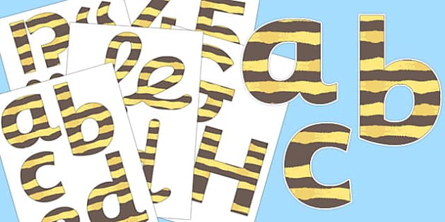 Bee Display Letters and Numbers Pack - bee, display, pack, letters, numbers