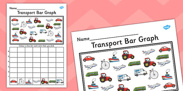Transport Bar Graph Activity Worksheet - transport, bar graph