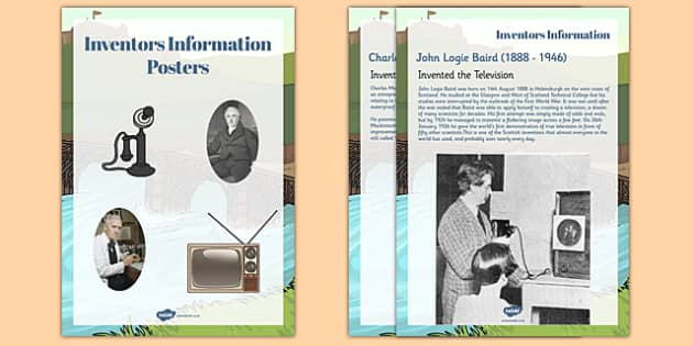 Scottish Inventors Information Display Posters Text - scottish, inventors, information, display, posters