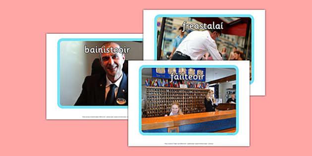 Irish Occupations The Hotel Display Photos Gaeilge - display, photos, occupations, hotel, Gaeilge, Irish