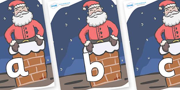Phoneme Set on Santa (Chimney) - Phoneme set, phonemes, phoneme, Letters and Sounds, DfES, display, Phase 1, Phase 2, Phase 3, Phase 5, Foundation, Literacy