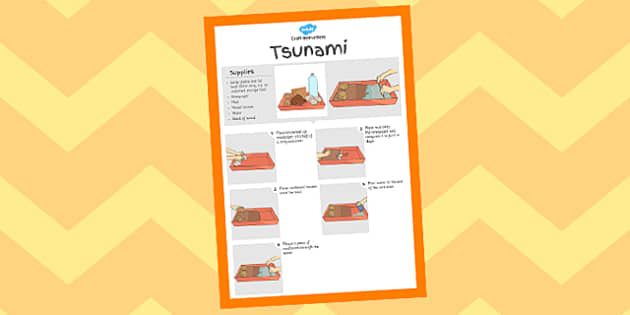 Tsunami Experiment Instructions Sheet - crafts, ocean, sea, activity