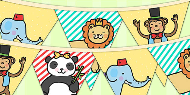 Animal Themed Birthday Party Picture Bunting - birthdays, parties