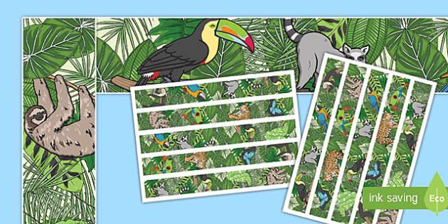 Rainforest Themed Display Borders - rainforest, display borders, display, borders