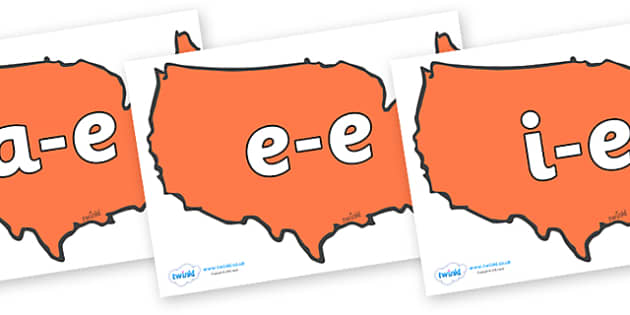 Modifying E Letters on USA - Modifying E, letters, modify, Phase 5, Phase five, alternative spellings for phonemes, DfES letters and Sounds
