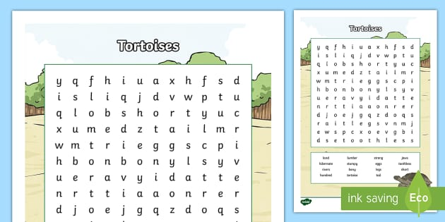 Australian Animals (Tortoise) Years 3-6 Word Search - Australian Animals, reptiles, cloze passages, activity sheets, word search, research, fast finisher,