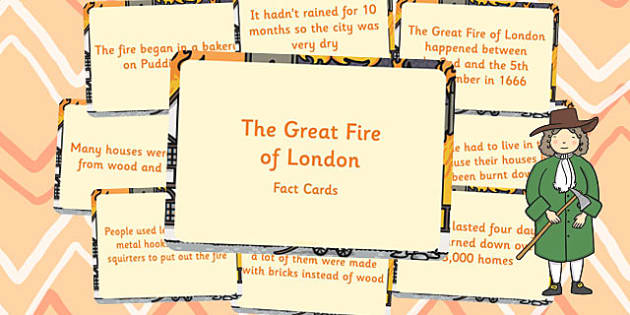 Amazing The Great Fire of London Fact Cards - Fire, London