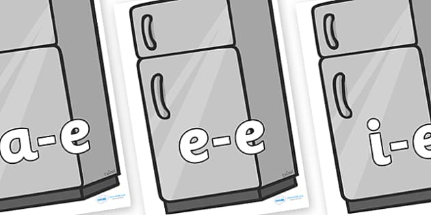 Modifying E Letters on Fridges - Modifying E, letters, modify, Phase 5, Phase five, alternative spellings for phonemes, DfES letters and Sounds