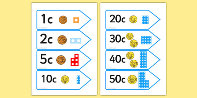 Number Shape Price Labels With Euros - money, maths, role play, shopping, adding, subtracting, amtching, early years, KS1, key stage 1