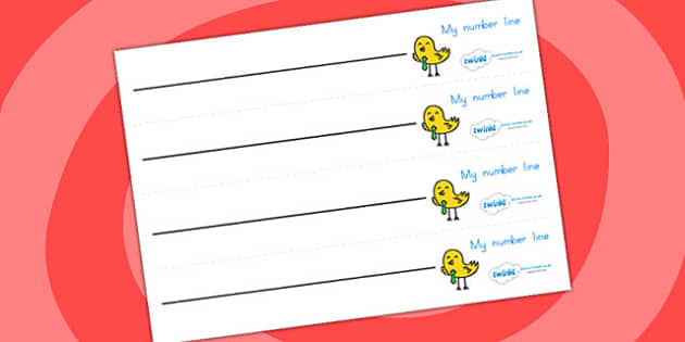 Blank Number Line - numbers, counting, counting aid, numeracy