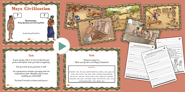 Use Speaking Listening Skills to Explore Maya Civilisation Pack