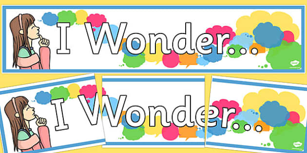 I Wonder Display Banner - I wonder, display banner, display, banner