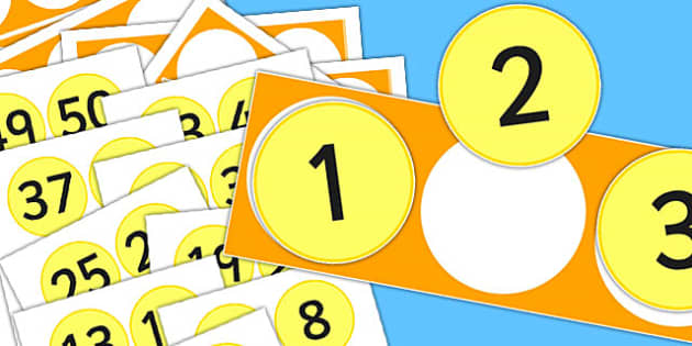 Numbers 1 to 50 Number Line - counting, count, counting aid, maths