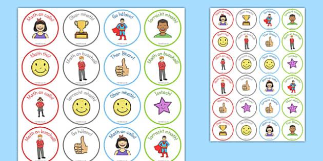 Reward Stickers Gaeilge - irish, gaeilge, rewards, praise, stickers, ireland, teachers, classroom, display