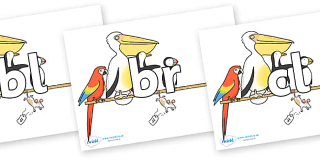 Initial Letter Blends on Pets on a Perch to Support Teaching on The Great Pet Sale - Initial Letters, initial letter, letter blend, letter blends, consonant, consonants, digraph, trigraph, literacy, alphabet, letters, foundation stage literacy