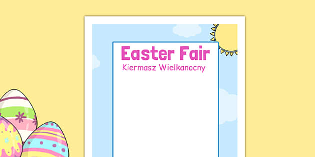 Easter Fair Editable Poster Polish Translation - polish, easter fair, easter fayre, fair, fayre, easter, editable poster